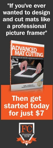 advanced mat cutting course for picture framing